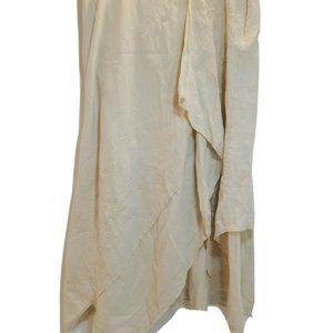J.Jill Women's Skirt 100% Linen Maxi Long Paneled